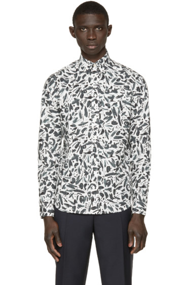 Paul Smith Jeans - White Poplin Printed Shirt