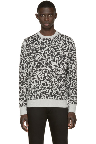 Paul Smith Jeans - Grey Printed Pullover
