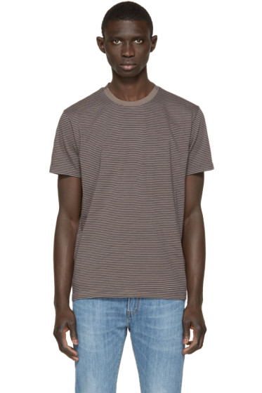 Paul Smith Jeans - Grey & Navy Striped T-Shirt