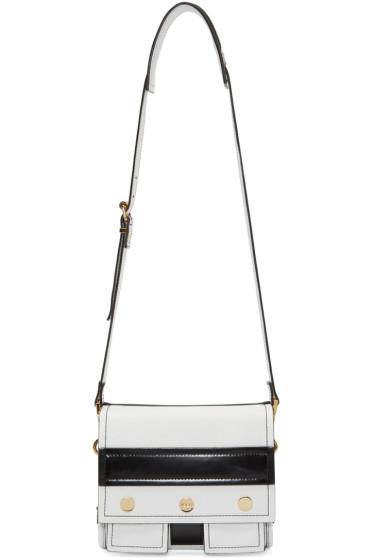 Kenzo - Black & White Leather Shoulder Bag