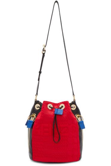 Kenzo - Grey & Red Kombo Bucket Bag