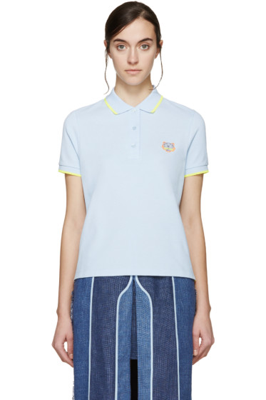 Kenzo - Blue Embroidered Tiger Polo