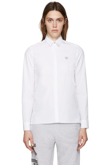 Kenzo - White Poplin Tiger Shirt