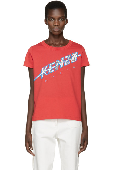 Kenzo - Red Diagonal Logo T-Shirt