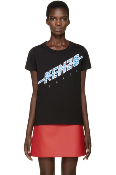 Kenzo - Black Diagonal Logo T-Shirt