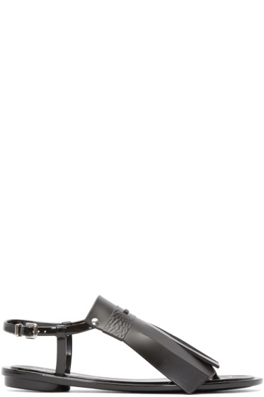 Kenzo - Black Rubber Fringed Sandals