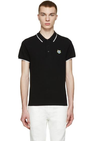 Kenzo - Black Embroidered Tiger Polo