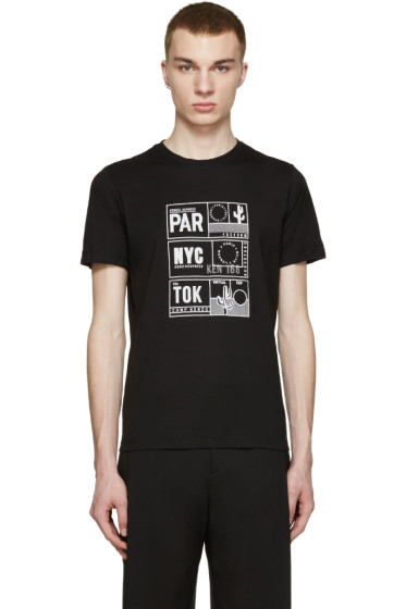 Kenzo - Black Packable Passport T-Shirt