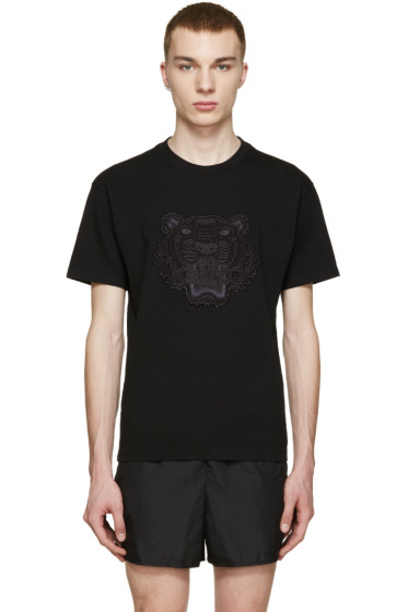 Kenzo - Black Embroidered Tiger T-Shirt
