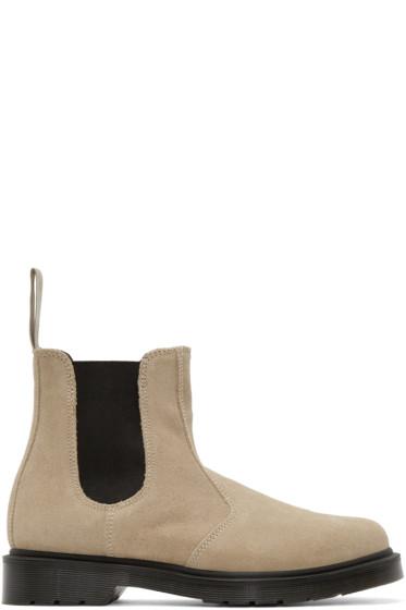 Dr. Martens - Beige Suede Chelsea Boots
