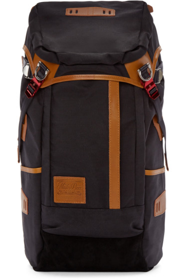 Master-Piece Co - Black & Tan Nylon Backpack