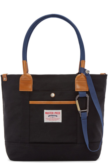 Master-Piece Co - Black Two-Way Tote Bag