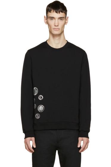Versus - Black Embroidered Logo Medallion Sweatshirt