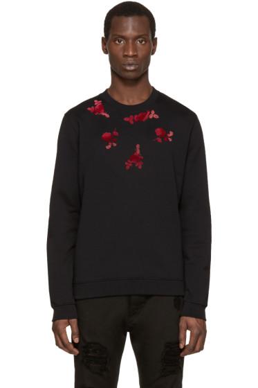 Versus - Black & Pink Floral Sweatshirt