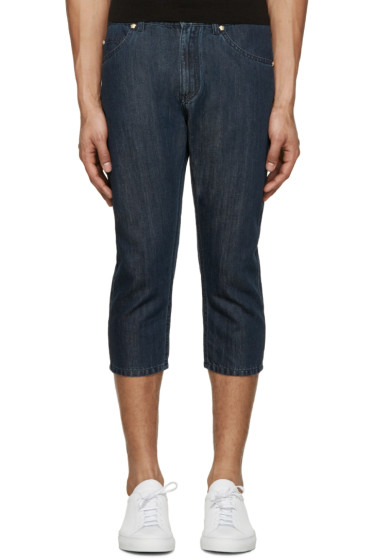 Versace - Indigo Cropped Jeans