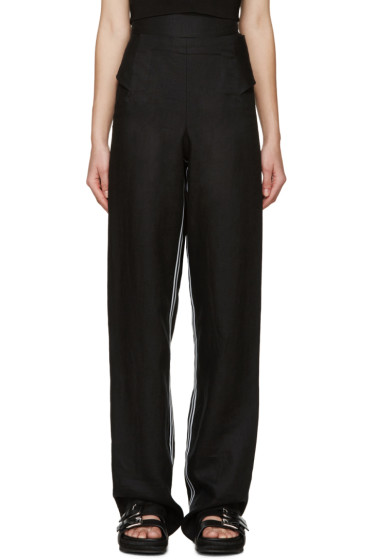 Denis Gagnon - SSENSE Exclusive Black Linen Trousers