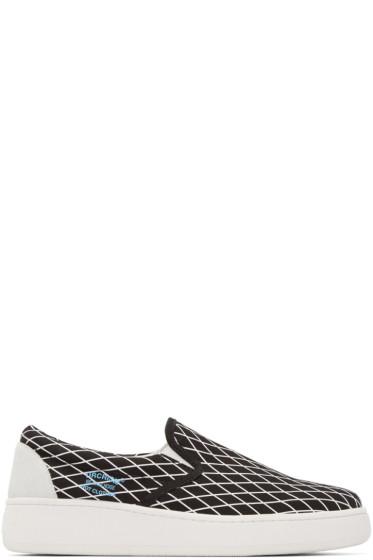 Undercover - Black Printed Slip-On Sneakers