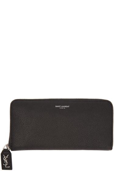 Saint Laurent - Black Leather Rive Gauche Wallet