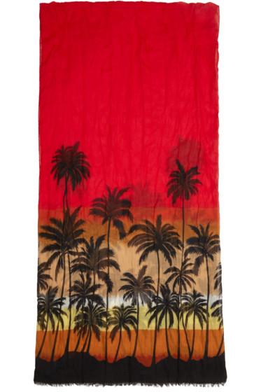 Saint Laurent - Multicolor Palm Tree Scarf