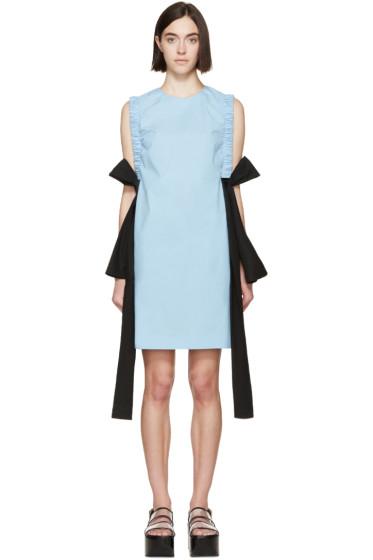 MSGM - Blue Poplin Bow Dress