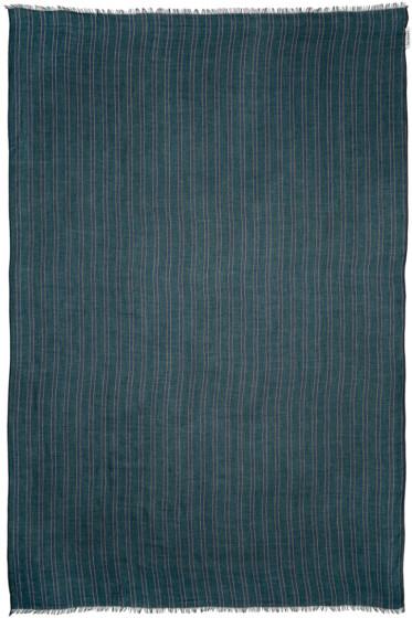 Umit Benan - Green & Navy Striped Scarf