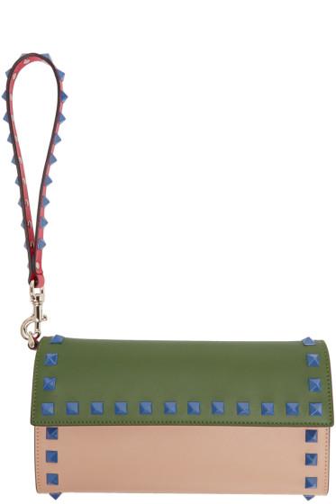 Valentino - Multicolor Rockstud Continental Wallet