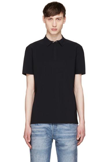 Calvin Klein Collection - Black Laser-Cut Polo