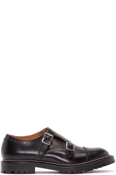 Kolor - Black Leather Monkstrap Brogues