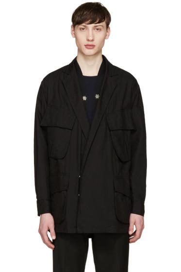 Facetasm - Black Oversized Military Jacket