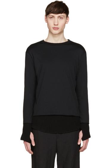 Facetasm - Black Layered Waffle T-Shirt