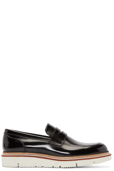 Jimmy Choo - Black Leather Leon Penny Loafers