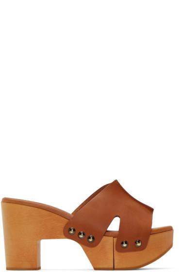Robert Clergerie - Cognac Cetri Clog Sandals