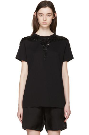 Marcelo Burlon County of Milan - Black Beaded Petapa T-Shirt