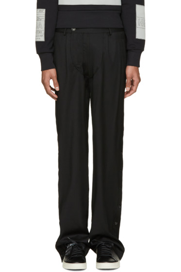 Hood by Air - Black Suiting Snappers Trousers