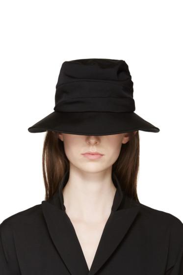 Yohji Yamamoto - Black Slouchy Brimmed Hat
