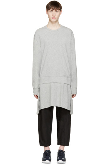 Lad Musician - Grey Long Layered Pullover
