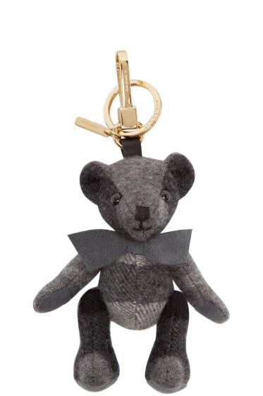 Burberry London - Grey Cashmere Thomas Keychain