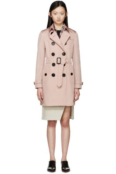 Burberry London - Pink Nylon Plympton Trench Coat