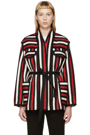 Isabel Marant Etoile - Tricolor Striped Breeda Jacket