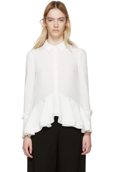 Erdem - White Silk Liya Blouse