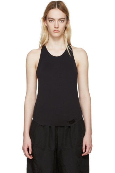 Y-3 SPORT - Black Racer Back Tank Top