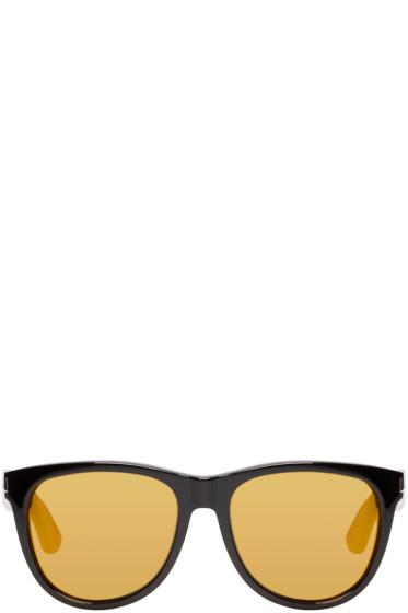 Saint Laurent - Black & Gold SL 101 Surf Sunglasses