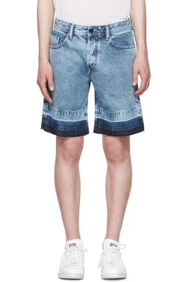 Diesel - Blue Denim Bust-Re Shorts