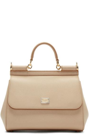 Dolce & Gabbana - Beige Medium Miss Sicily Bag