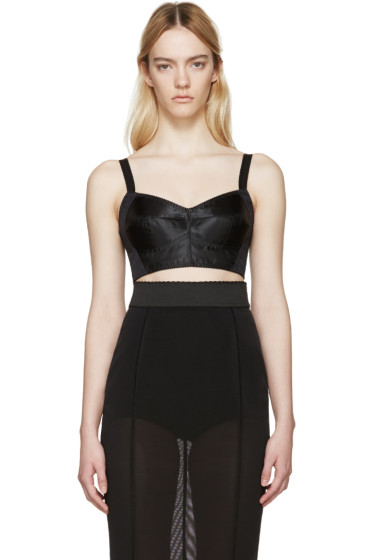 Dolce & Gabbana - Black Satin & Lace Bra