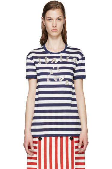 Dolce & Gabbana - Navy & White Italia T-Shirt