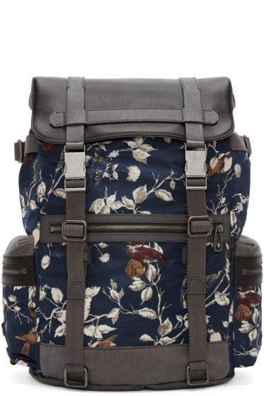 Dolce & Gabbana - Navy Bird Print Backpack