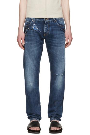 Dolce & Gabbana - Indigo Embroidered Birds Jeans