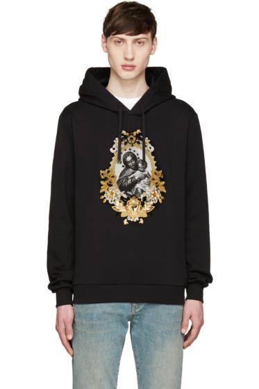 Dolce & Gabbana - Black Embellished Madonna Hoodie