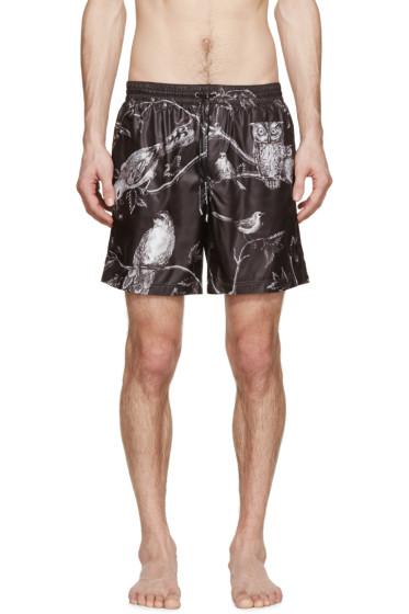 Dolce & Gabbana - Black Midnight Print Swimsuit
